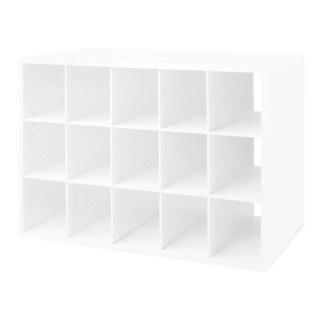 Organized Living freedomRail White 'Big O-Box' Cubby