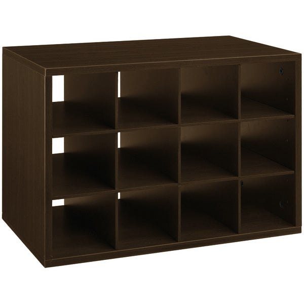 Organized Living freedomRail Chocolate Pear 'Big O-Box' Shoe Cubby