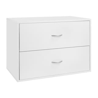 Organized Living FreedomRail White U0027Big O Boxu0027 2 Drawer Modular Cabinet