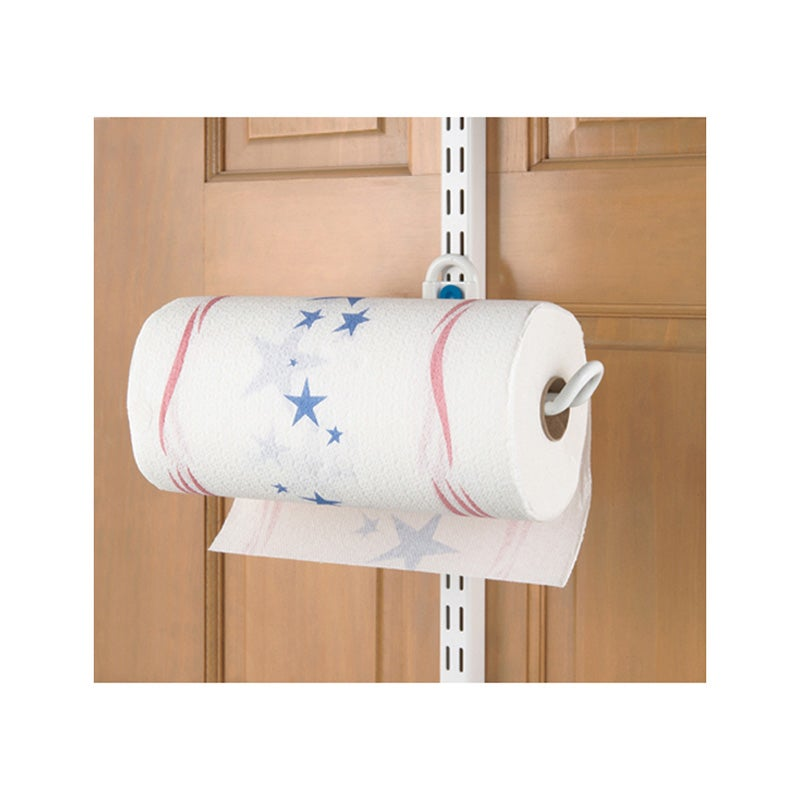 Organized Living freedomRail Over-the-Door White Paper Towel Holder - Thumbnail 0