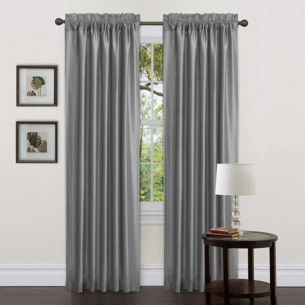 Lush Decor Gray Delila 84 Inch Curtain Panels Set Of 2