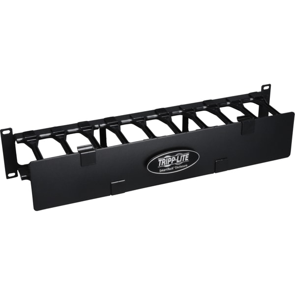 Tripp Lite Rack Enclosure Horizontal Cable Manager Steel w Finger Duc