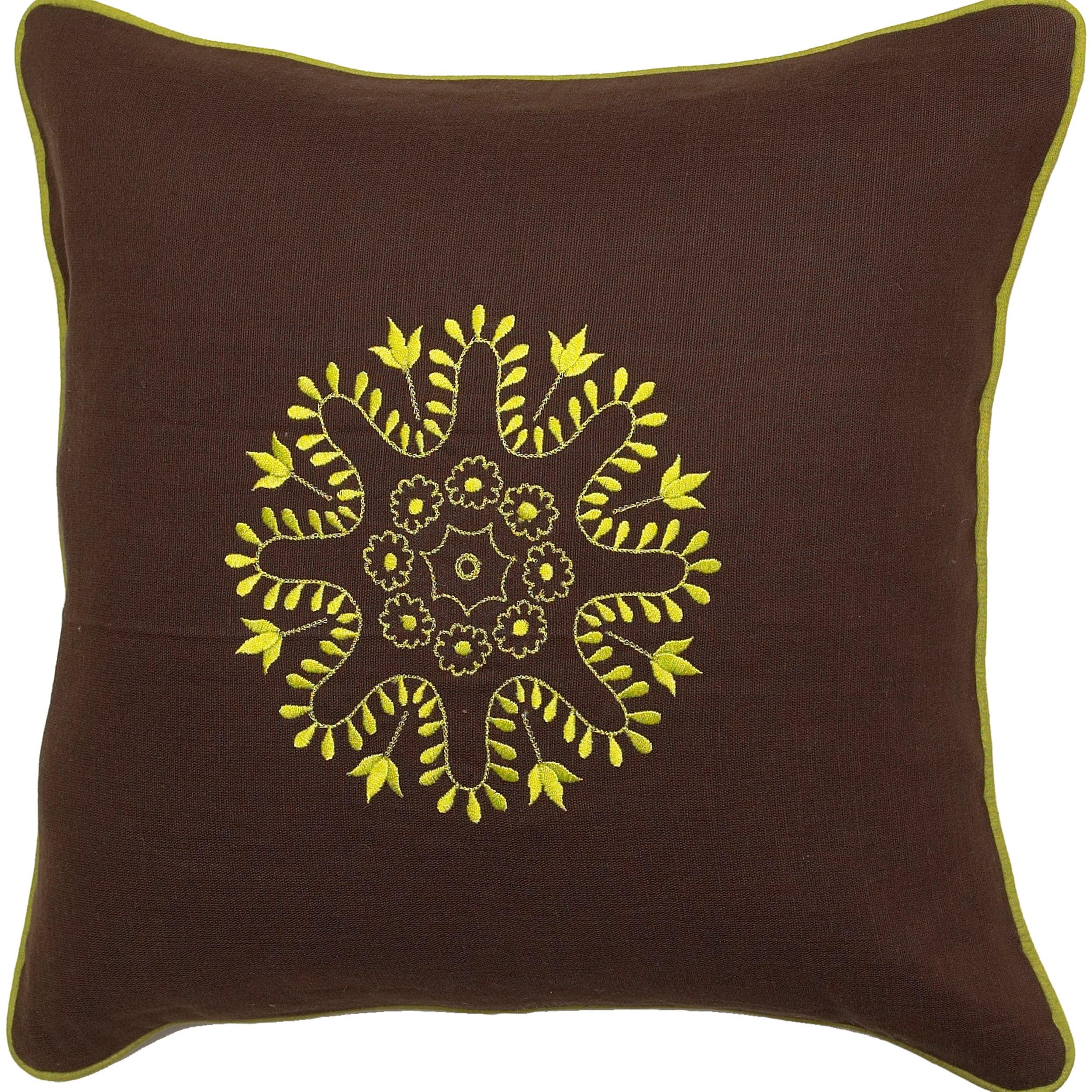 Mildura Chocolate/ Lime Down Decorative Pillow