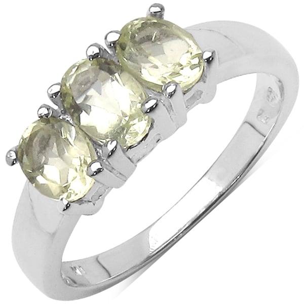 Malaika Sterling Silver Lemon Topaz Ring (1 1/8ct TGW)