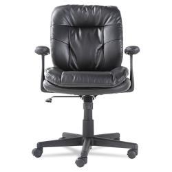 OIF Executive Swivel/Tilt Chair, Fixed T-Bar Arms, Black