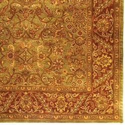 Safavieh Handmade Golden Jaipur Green/ Rust Wool Rug (11' x 17') - Thumbnail 1