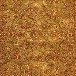Safavieh Handmade Golden Jaipur Green/ Rust Wool Rug (11' x 17') - Thumbnail 2