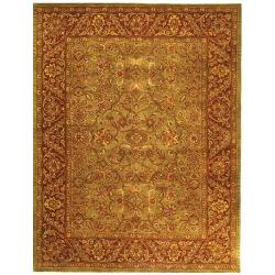 Safavieh Handmade Golden Jaipur Green/ Rust Wool Rug (11' x 17')