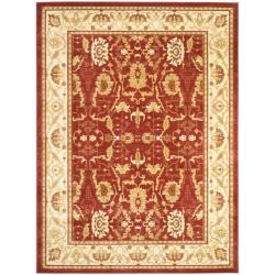 Safavieh Oushak Red/ Cream Powerloomed Rug (6'7 x 9'1)