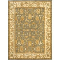 Safavieh Oushak Blue/ Cream Powerloomed Rug (9'6 x 13')