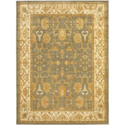 Safavieh Oushak Blue/ Cream Rug (9'6 x 13') - Thumbnail 0