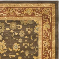 Safavieh Oushak Brown/ Red Powerloomed Rug (9'6 x 13')