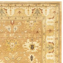 Safavieh Oushak Light Brown/ Gold Powerloomed Rug (9'6 x 13') - Thumbnail 1