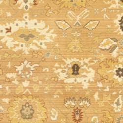 Safavieh Oushak Light Brown/ Gold Powerloomed Rug (9'6 x 13') - Thumbnail 2