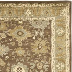 Safavieh Oushak Brown/ Green Powerloomed Rug (8' x 11')