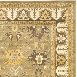 Safavieh Oushak Green/ Brown Powerloomed Rug (9'6 x 13') - Thumbnail 1