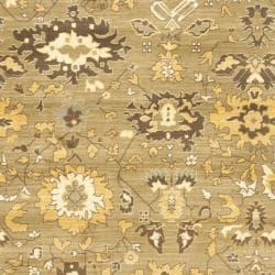 Safavieh Oushak Green/ Brown Powerloomed Rug (8' x 11')