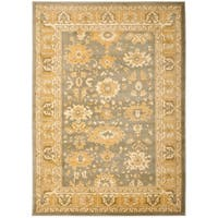 "Safavieh Oushak Heirloom Traditional Grey/ Blue/ Gold Rug - 6'7"" x 9'1"""