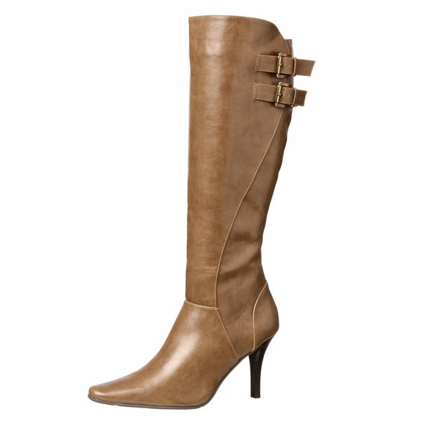 CL by Laundry Women's 'Sweet Heart' Taupe Knee-high Boots