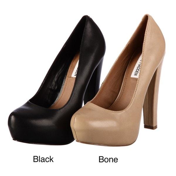 41e3e5351fa Shop Steve Madden Women s  Danitty  Black Platform Pumps - Free ...
