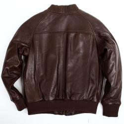 United Face Boy's Lambskin Leather Baseball Jacket - Thumbnail 1