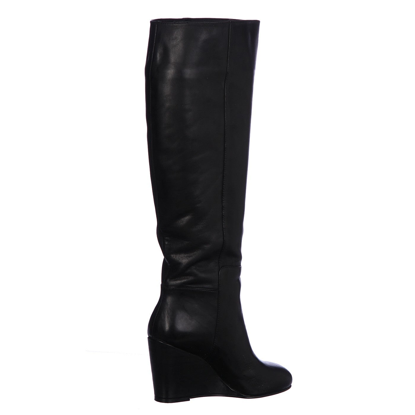 Black Tall Wedge Boots FINAL SALE