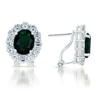 Collette Z Sterling Silver Cubic Zirconia Celebrity-inspired Stud Earrings