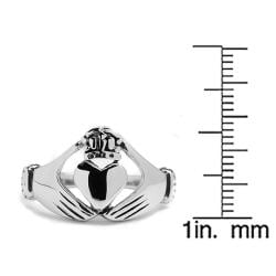 Oliveti Stainless Steel Cast Irish Claddagh Ring - Thumbnail 2