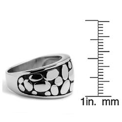 Oliveti Stainless Steel Cast Tapered Nugget Ring - Thumbnail 2