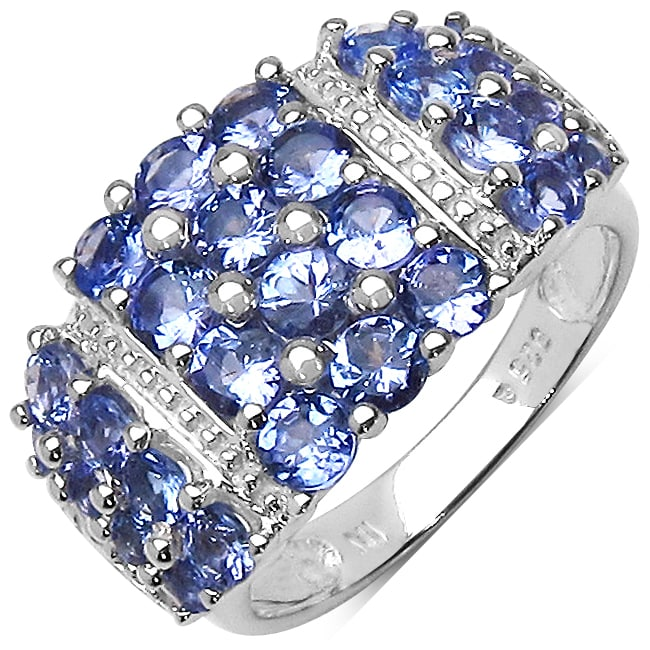 Malaika Sterling Silver Tanzanite Ring (2ct TGW)