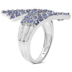 Malaika Sterling Silver Tanzanite Ring (1 1/3ct TGW) - Thumbnail 1