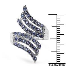 Malaika Sterling Silver Tanzanite Ring (1 1/3ct TGW) - Thumbnail 2