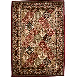 Traditional Panel Kerman Multicolor Area Rug - 7'10 x 9'10 - Thumbnail 0