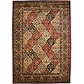 Traditional Panel Kerman Multicolor Area Rug - 7'10 x 9'10