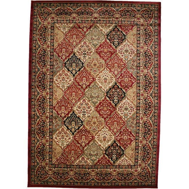 "Panel Kerman Claret Red Area Rug (5'3 x 7'7), Size 5'3"" x..."