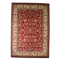 Traditional Oriental Keshan Claret Red Area Rug - 7'10 x 9'10