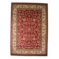 Traditional Oriental Keshan Claret Red Area Rug (7'10 x 9'10)