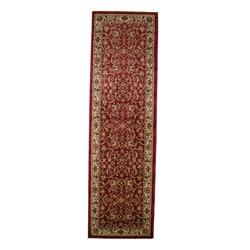 Classic Keshan Claret Red Area Rug (2'3 x 7'7)