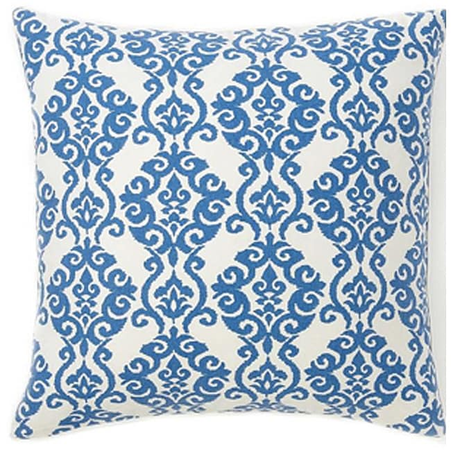 Luminari Blue Cotton Decorative Pillow