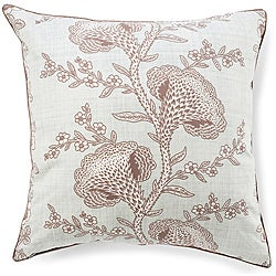 Geisha Powder Blue Cotton Pillow