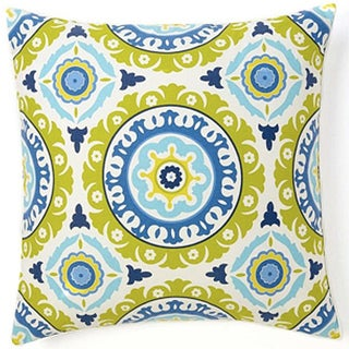 Suzani Henna Blue Decorative Pillow