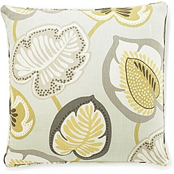 20 x 20-inch Hosta Lily Celedon Cotton Decorative Pillow