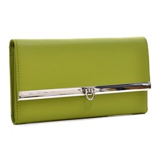 Dasein Faux Leather Flip-clasp Checkbook Wallet
