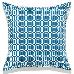 20 x 20-inch Mosaic Blue Outdoor Pillow