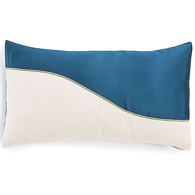 Wave Blue Poly Decorative Pillow