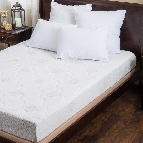 Christopher Knight Home Aloe Gel Memory Foam 8-inch Twin XL-size Smooth Top Mattress