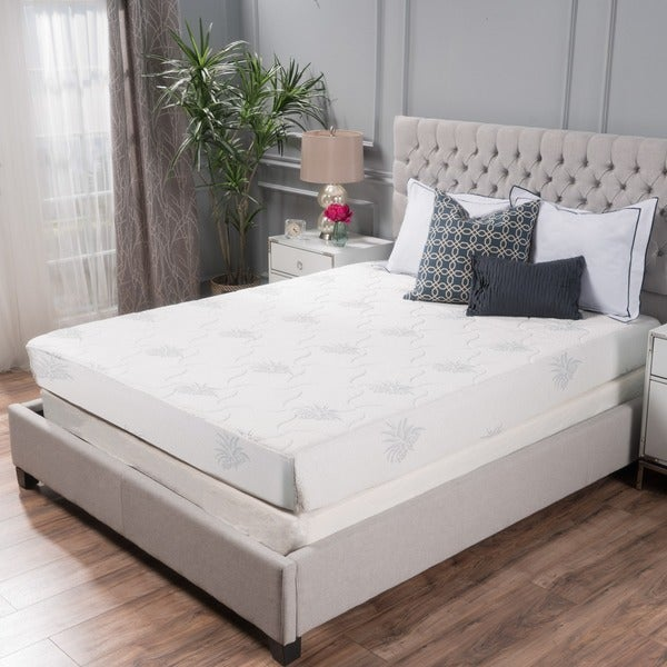Shop Aloe Gel Memory Foam 8-inch Queen-size Smooth Top Mattress by ...