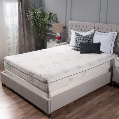 Aloe Gel Memory Foam 11-inch Twin-size Smooth Top Mattress by Christopher Knight Home