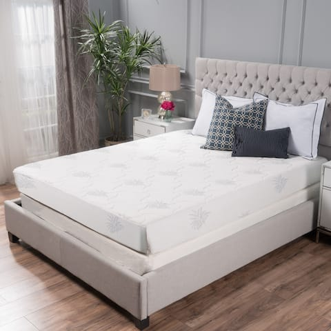"""11"""" Aloe Gel Memory Foam Smooth Top Mattress by Christopher Knight Home"""