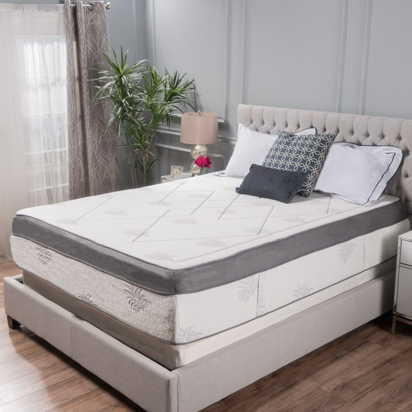 Aloe Gel Infused Memory Foam 15-inch Queen-size Mattress by Christopher Knight Home